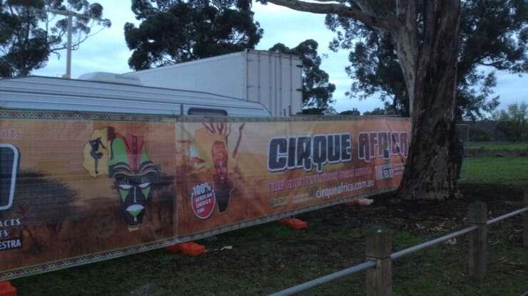 CIRQUE AFRICA - Hoarding 2
