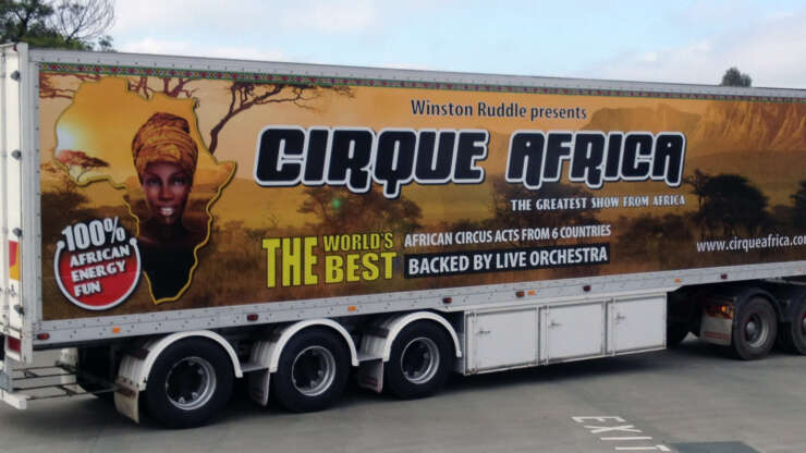 Trailer Truck Cirque Africa The greatest show from africa