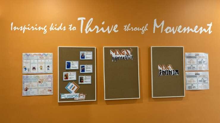 Maga Communication Wall Inspiring kids to THRIVE through Movement