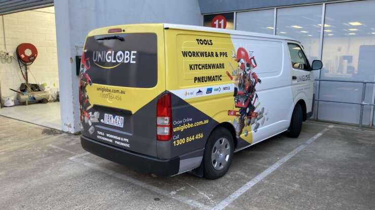 Uniglobe Van 1Tools Workwear & PPE Kitchenware Pneumatic Australian Signmakers