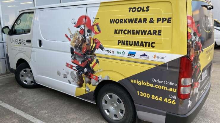 Uniglobe Van 2 Tools Workwear & PPE Kitchenware Pneumatic Australian Signmakers